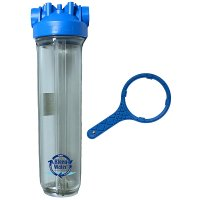 Premier Whole House Water Filter Housing 4.5 x 20 with Wrench