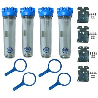 Multi Unit Whole House Water Filter Set - 4.5 x 20
