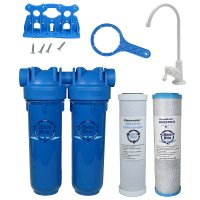 Drinking Water Filter, Lead Chloramine Chlorine Sediment, White Faucet