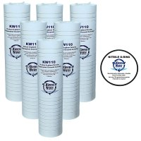 Six 2.5 X 9.75 Inch Compatible Aqua-Pure AP110 Water Filters - O-ring